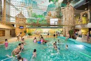 Дети в аквапарке Друскининкай
