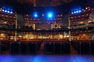 вид с концертной площадки на пароме
