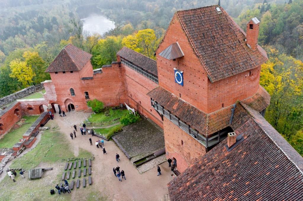Вид с башни замка Турайда