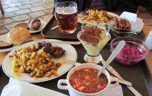 Блюда в ресторане Лидо