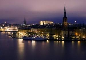 Фото ночного Стокгольма