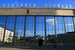 Фотография центрального вокзала в Риге