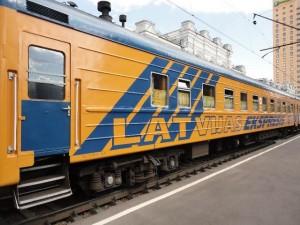 Изображение поезда Москва-Рига