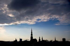 Облачное небо в Риге