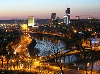 Вид ночного Вильнюса