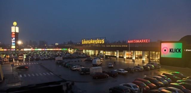 Здание торгового центра Lounakeskus в Тарту