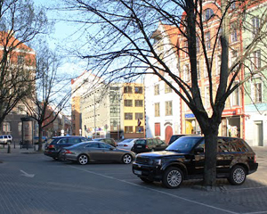 Парковка в центре Риги