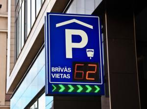 Указатель парковки в Риге