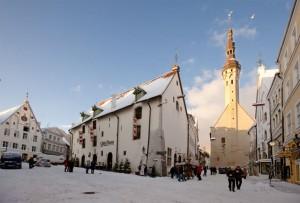 Зимний вид старого города Таллина