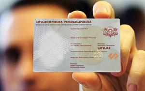 Изображение документа ВНЖ в Латвии