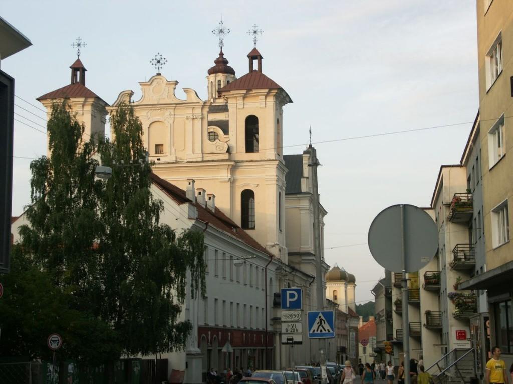 Изображена костела Святого Духа в Вильнюсе