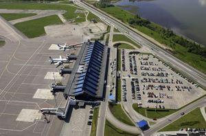 Таллинский аэропорт сверху