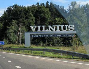 Фото въезда в Вильнюс