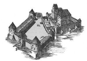 Рисунок замка Тракай
