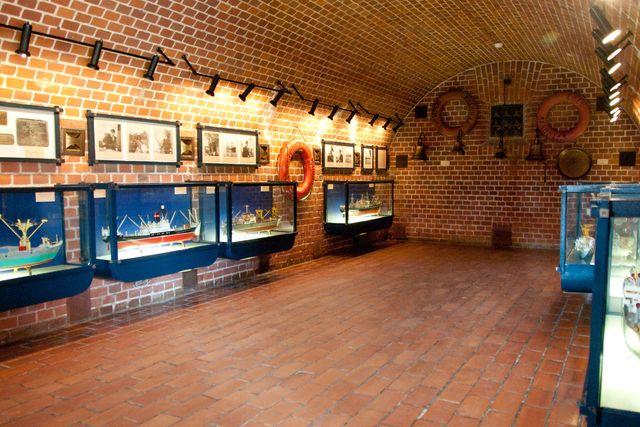 Макеты кораблей в Морском музее