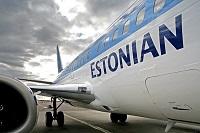 Самолет эстонского авиаперевозчика