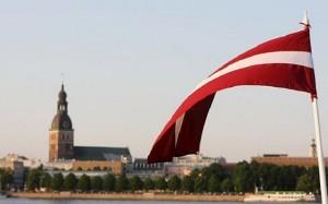 Вид, открывающийся на Латвию