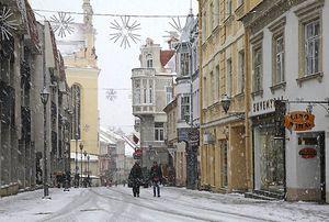 Зима в Вильнюсе