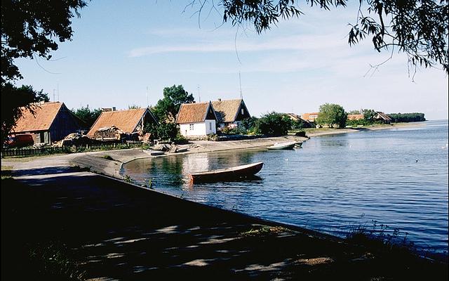 Поселок на Куршской косе в Литве