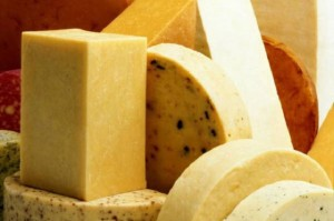 Разнообразные виды литовского сыра