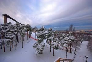 Лыжная трасса в Таллине - район Нымми