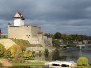 Берег Нарвы в Эстонии