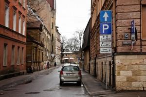 Парковка в Риге