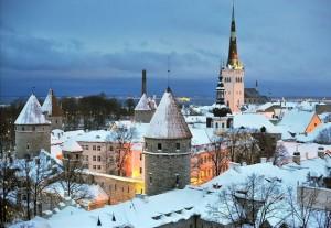Таллин - фотография зимнего города