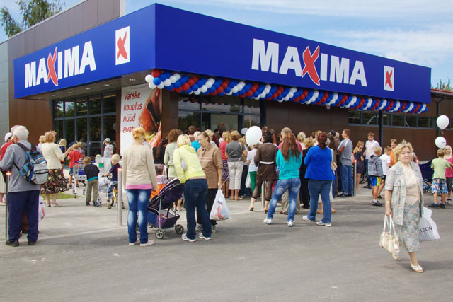 Здание популярного супермаркета Maxima Х