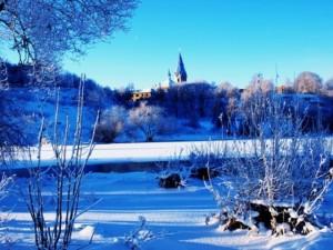 Зимняя погода в Нарве