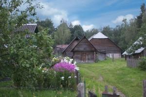Деревенская усадьба в Дзукийском национальном парке в Литве